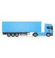 truck semi trailer 05 vector image