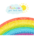 Bright rainbow vector image
