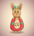Cute cartoon bunny 1 vector image
