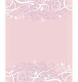 Decorative wedding background vector image