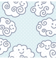 Funny cartoon clouds background with space for vector image