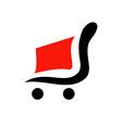 Logo for shopping- abstract shopping cart vector image