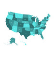 Map of united states of america usa in four vector image