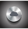 metal cloud button vector image