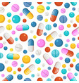 seamless pattern of pills and other vector image