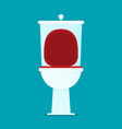 toilet flat icon vector image
