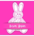 Paper background with toy bunny vector image