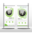 green abstract business roll up banner flat design vector image