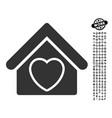 hospice icon with job bonus vector image