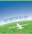 bordeaux flight destination vector image