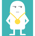 Animated personality winner vector image