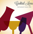 Retro overlay cocktail card in format vector image vector image