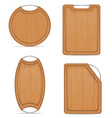cutting board 10 vector image vector image