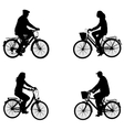 city bicyclists vector image
