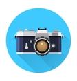 Retro Camera flat icon vector image