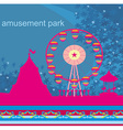 abstract card - amusement park vector image