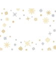 Christmas and winter background with snowflakes vector image