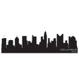 columbus ohio skyline detailed silhouette vector image
