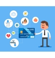 Credit card payments concept vector image
