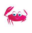 cute crab vector image