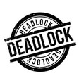 deadlock rubber stamp vector image