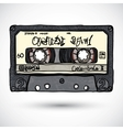 Doodle style cassette tape vector image