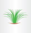 green grass abstract design element vector image