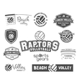 Volleyball labels badges logo and icons set vector image