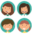School girls avatar collection vector image vector image