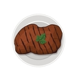 steak meat icon vector image