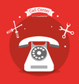 call center telephone contacts tools vector image