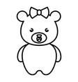 cute and tender female bear kawaii style vector image
