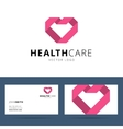 Health care logo template vector image vector image