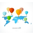 hot air and modern world map vector image