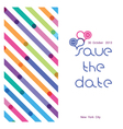 a wedding invitation with a bright seamless vector image