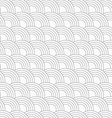 Slim gray offset overlapping circles vector image