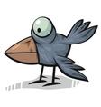standing crow vector image