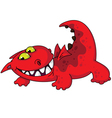 comic dragon vector image vector image