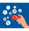 Bank Credit card payments concept vector image