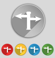 Blank Road Sign icon sign Symbol on five flat vector image