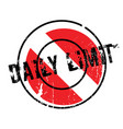 daily limit rubber stamp vector image