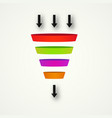 marketing funnel for conversion and sales vector image
