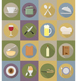 objects for food flat icons 20 vector image