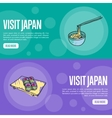 Visit Japan Touristic Web Banners vector image