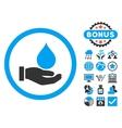 Donate Blood Flat Icon with Bonus vector image