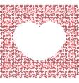 heart shaped maze vector image