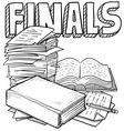 doodle school finals vector image