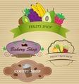Restaurant Labels Set vector image