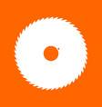 circular saw blade white icon vector image