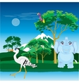 African landscape with animal vector image
